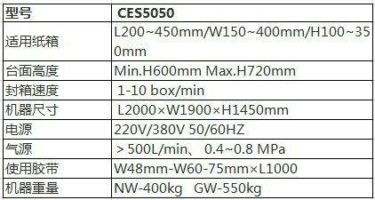 CES5050自动开箱机