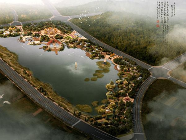 南岳区金月湖鸟瞰图PPP项目