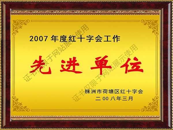 2007年先进单位