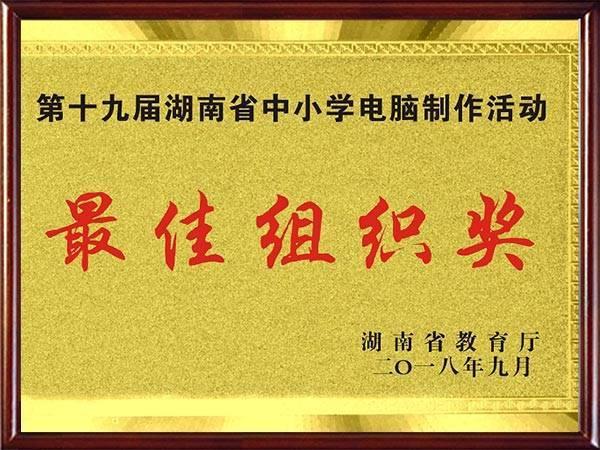 第十九届湖南省中小学电脑制作活动组织奖