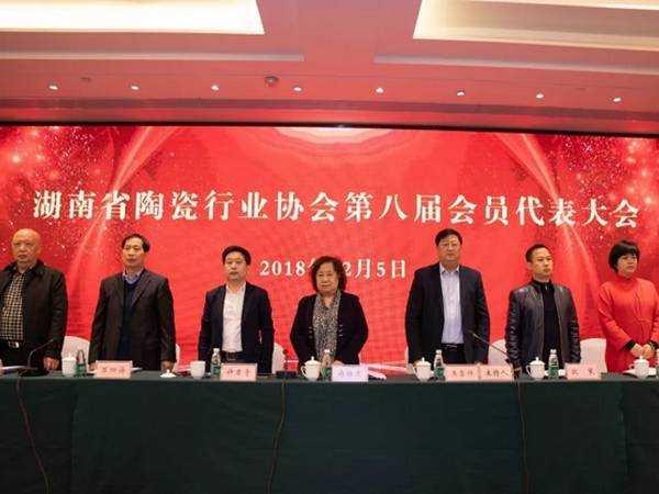 湖南省陶瓷行業協會第八屆會員代表大會隆重召開 ——許君奇當選為第八屆理事會會長