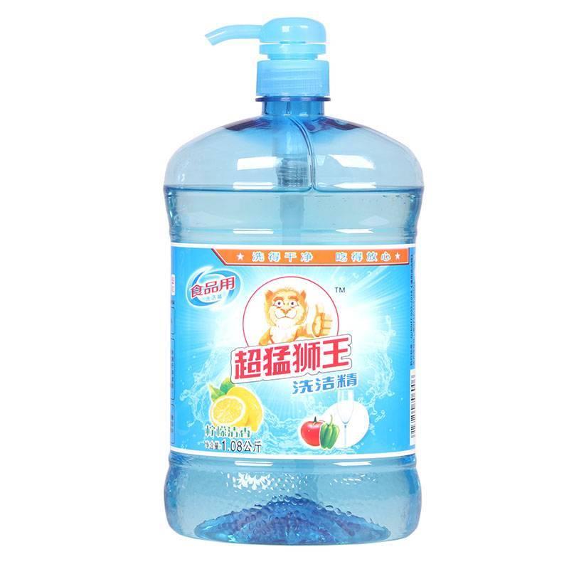 特惠家庭装 超猛狮王3.08kg风信馨香洗衣液+1.08kg柠檬洗洁精