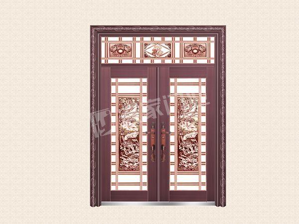 YJ-6036铝艺花枝对开门(真紫铜)