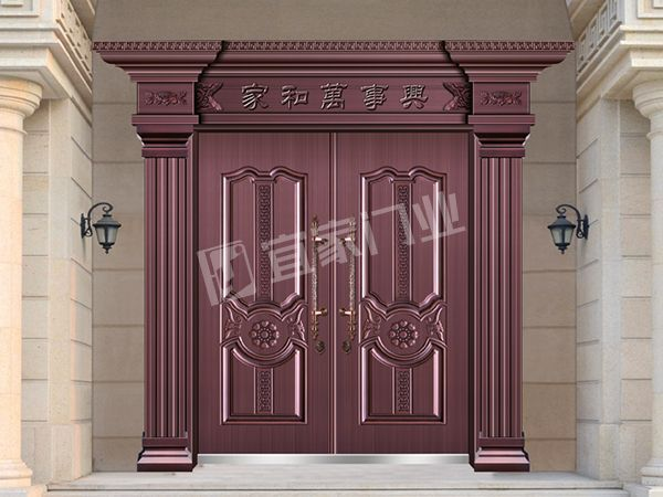 YJ-7022宫廷圣殿对开门(真紫铜)