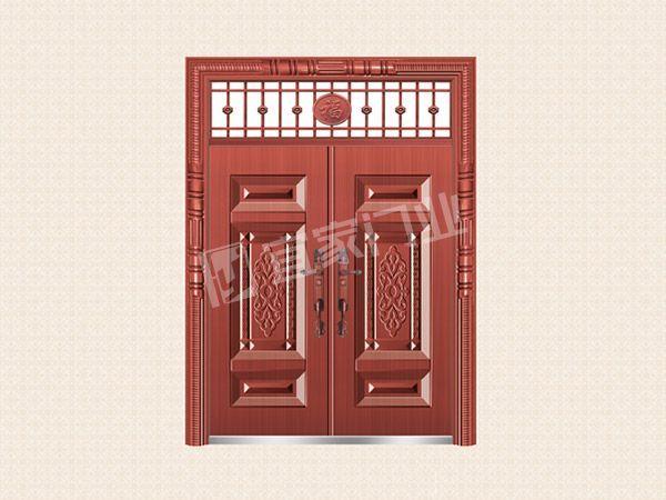 YJ-6019四方呈祥对开门(真红铜)