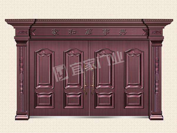 YJ-7007罗马风情四开门(真红铜)
