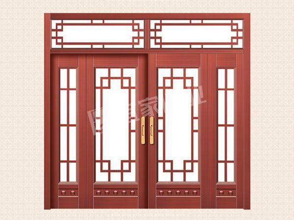 YJ-2008推拉四开子母拼接门(真红铜)