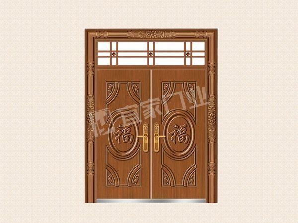 YJ-6022福星高照对开门(仿紫铜)