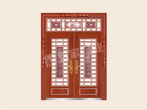 YJ-6052铝艺花枝对开门(仿红铜)
