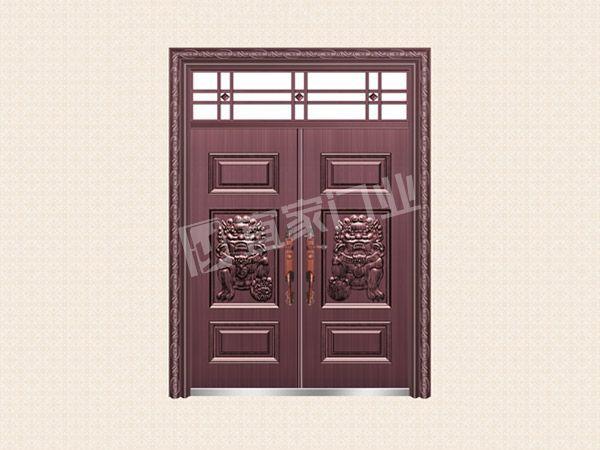 YJ-6017宅第安祥对开门(真紫铜)