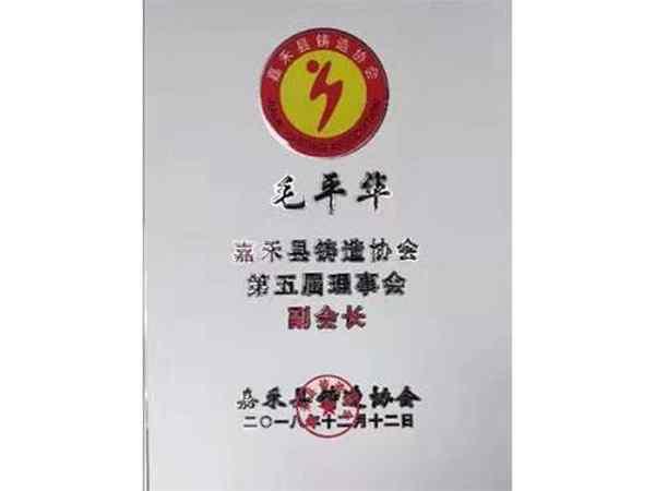 嘉禾縣鑄造協會第五屆副會長單位