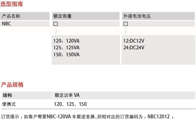 NBC系列車載逆變器-產品詳情