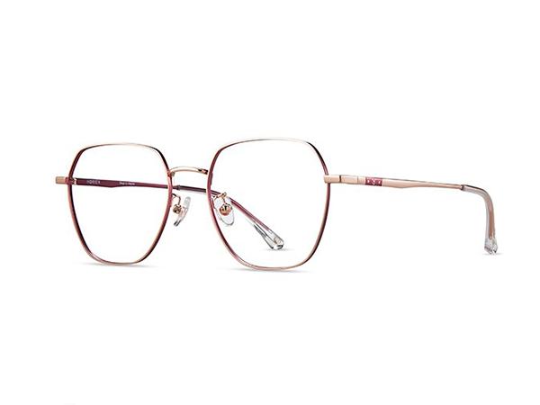海俪恩HORIEN近视眼镜女N71072 N71072-CP8-玫瑰金框