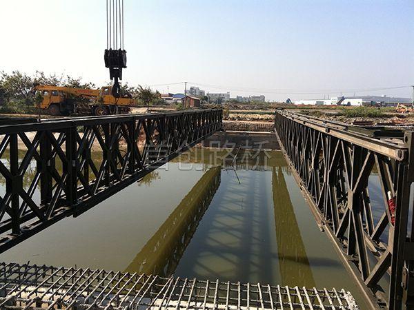 广州南海奥迪工业园区10座27米三排加强型钢桥