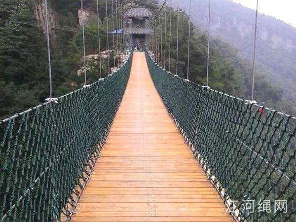 湖南宁乡某旅游景区的纯手工防护网