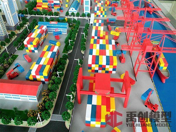 自动化集装箱板桩码头模拟平台-集装箱码头堆场场桥配置模型