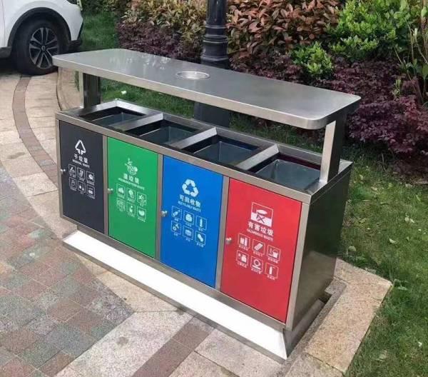 广西柳州人民医院采用湖南艾仑双分类/三分类不锈钢垃圾桶