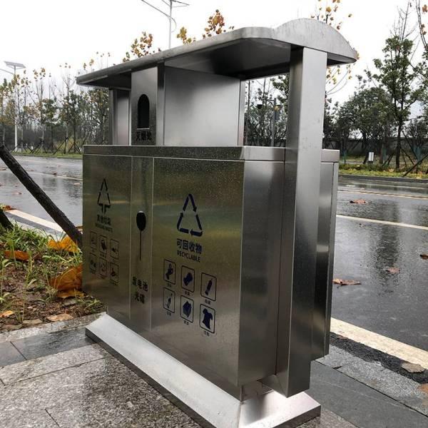 梅溪湖听雨路采购湖南艾仑双分类不锈钢垃圾桶