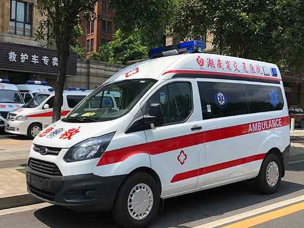 福特新全顺V362中轴中顶转运型救护车