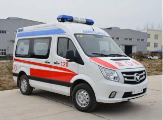 福田图雅诺短轴中顶转运型救护车