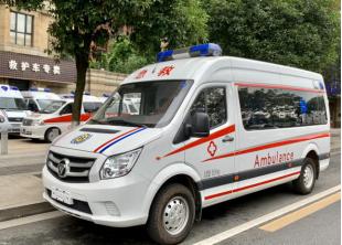 福田图雅诺长轴中顶监护型救护车