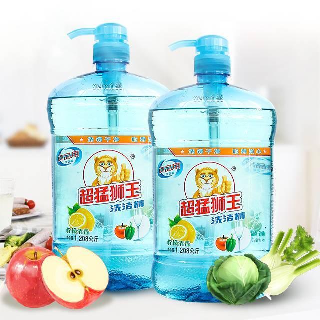 超猛狮王 食品用洗洁精 柠檬清香 1.208kg瓶