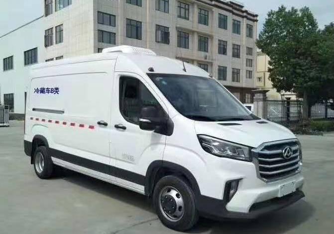福田图雅诺长轴面包式冷藏车