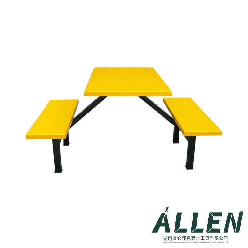 玻璃钢4人条椅餐桌椅