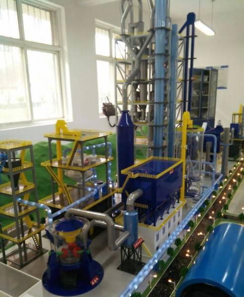 5000T/D新型干法水泥生产线模拟演示装置模型