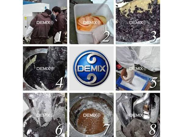 Variety of colloidal resin + short carbon fiber + powder