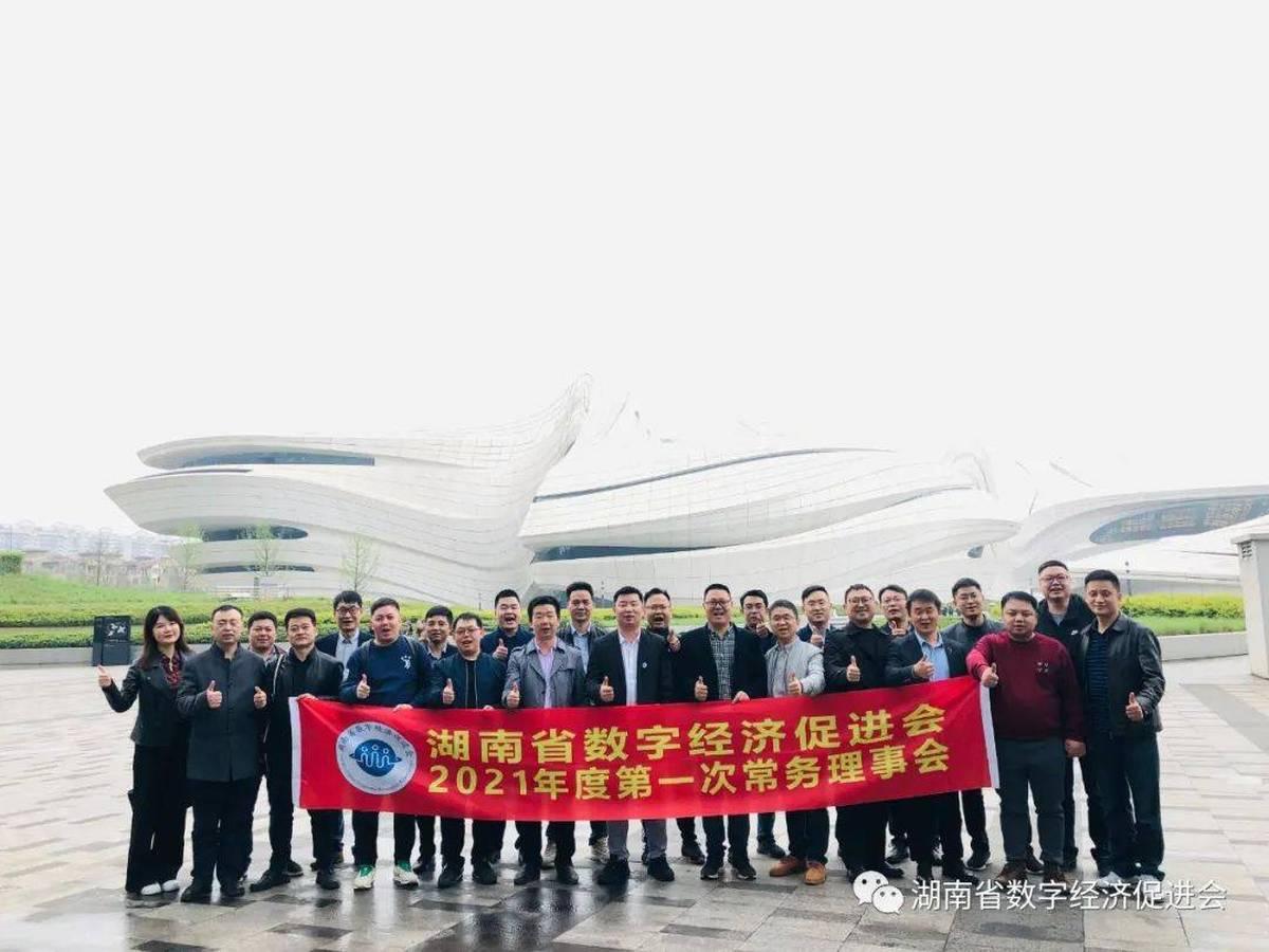 湖南省数字经济促进会2021年度第一次常务理事会圆满召开