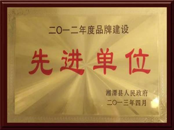 2012年度品牌建设先进单位