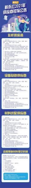 戴永红2021供应商招标公示