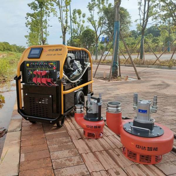 【中达智能】液压动力站连接液压渣浆泵首次起机需要注意哪些事项?